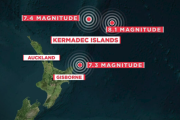 日本にも津波到達か?NZ沖で短時間に巨大地震が3連続で発生