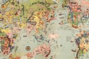 韓国人「1932年に日本で作成された漫画の世界地図を見てみよう」