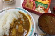 日本の社員食堂の250円の昼食→海外「俺が普段食ってる昼食よりかなり良くて草」「2ドルにしては量も質もかなりのものだね」「カレーに入ってる小さな白いものは何?」