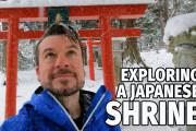 海外「天国かと思った!」岩手県・八幡平の雪に覆われた神社と滝の景色を紹介した動画に驚き!