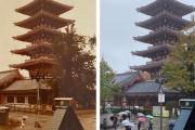 外国人「30年前に浅草に行った父親と同じ写真を撮ってみた!」