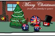 【アメリカ】クリスマスのコミック【ポーランドボール】