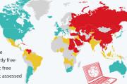 海外「アジアは日本だけか」 『ネット上に自由がある国』を示した世界地図が話題に
