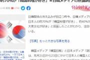 【悲報】日本人が一方的に韓国に片思いをしている事が判明‥韓国人の8割が日本に興味無し、日本人の7割が韓国文化が好き 韓国の反応
